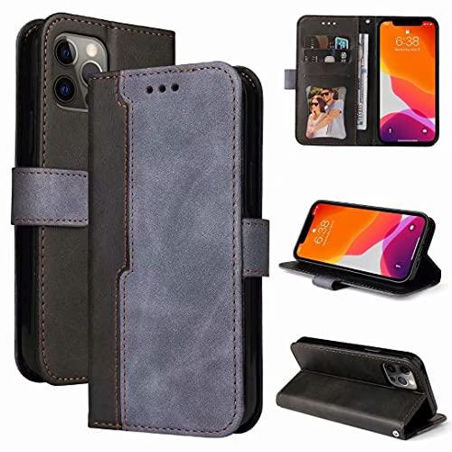 TUUNKMUY Funda tipo cartera para iPhone 11, piel sintética premium, iPhone 11, a prueba de golpes, funda con tapa para tarjetas, cierre magnético, función atril, protección completa, color gris