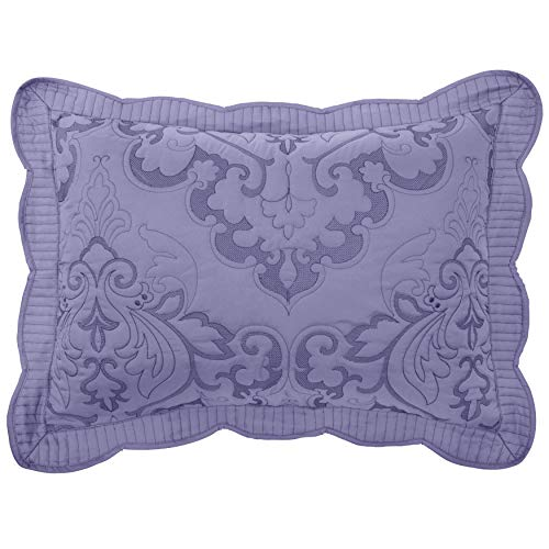 BrylaneHome Amelia Sham - Standard, Lavender