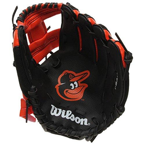 Wilson WTA02RB18COL Baltimore Orioles Glove, Left Hand, 10', Black/Orange