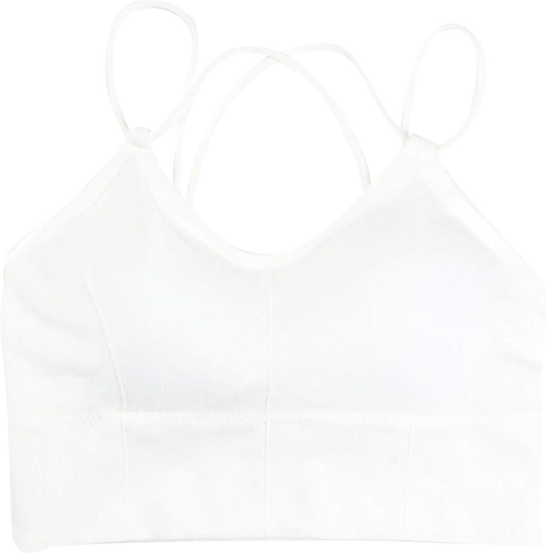 Maryia Women's Push Up Cozy Seamless Wire Free Bra Sports Light Everyday Basic Comfort Cup Vest Wrap Bikini Tops