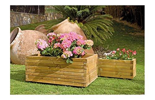 Nortene Planteur De Gaia Rectangulaire En Bois 100x50x40 cm