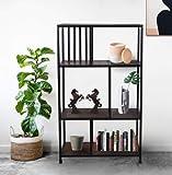 Russet Furnichill Reinet 3 Layers Book Cloth Shelf/Shoe Shelf/Book Shelf/Foot Wear Storage for Living Room (Black)