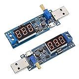 ALAMSCN DC-DC USB Buck Adjustable Boost Converter Step UP/Down Power Supply Module 3.5V-12V to 1.2V-24V (Pack of 2)