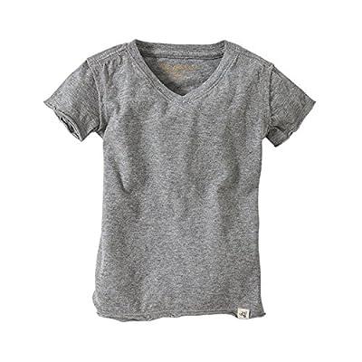Burt's Bees Baby Baby Boys' T-Shirt, Short Sleeve Crewneck Tees, 100% Organic Cotton, Heather Grey V-Neck, 18 Months from Burt's Bees Baby