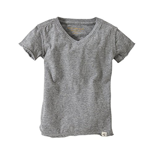 Burt's Bees Baby Baby Boys' T-Shirt, Short Sleeve Crewneck Tees, 100% Organic Cotton, Heather Grey V-Neck, 6-9 Months