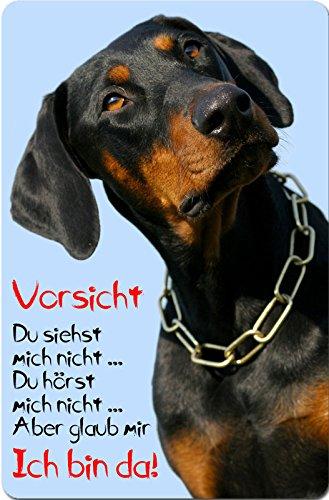 +++ DOBERMANN - Metall WARNSCHILD Schild Hundeschild Sign - DBM 28 T2