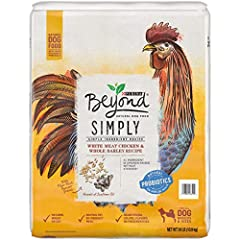 One (1) 24 lb. Bag - Purina Beyond Limited Ingredient, Natural Dry Dog Food, Simply White Meat Chicken & Barley Recipe High protein dog food with real chicken raised without steroids* as the #1 ingredient Nutrient-rich, limited ingredient dog food re...