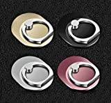 Cell Phone Ring Holder Finger Kickstand Turns 360° Degrees & 180° Degrees Adjustable to Fit Your Needs Helps Stabilize Phone for Selfies 4 Color Choices iPhone Stand Phone Grip 4 Pack 51765 (Ovals)