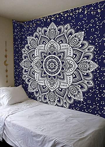 Mandala impresión tapiz colgante de pared sala de estar dormitorio decoración del hogar dormitorio arte de la pared tapiz de fondo A7 130x150cm