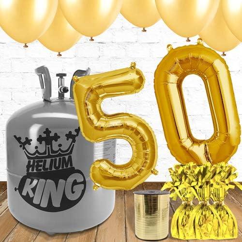connotación de lujo discreta 50.o 50.o 50.o Globos de oro y el paquete de gas helio  están haciendo actividades de descuento