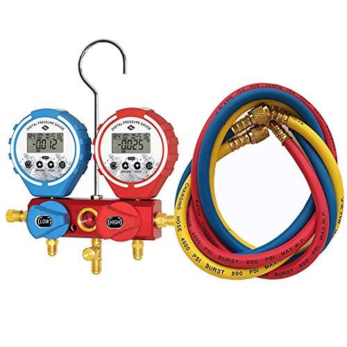 FEEE-ZC Probador de vacío Digital Probador de Temperatura HVAC, Manómetro Manómetro Colector de refrigeración Aire Acondicionado Colector de refrigeración