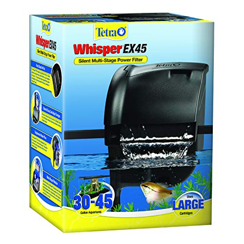 Tetra Whisper EX 45 Filter For 30 To 45 Gallon aquariums, Silent Multi-Stage...
