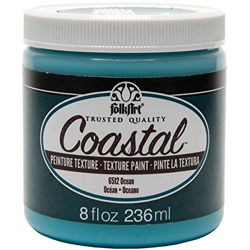 Plaid: Craft Folkart Coastal Texture Peinture, Multicolore, 7.36 x 7.36 x 8.12 cm