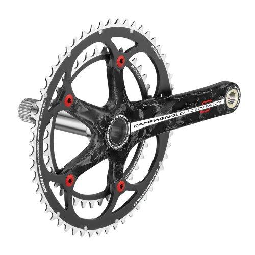 Campagnolo Centaur Carbon 10V 170-39x52 - Juego de bielas y Platos para Bicicleta, Color Rojo/Negro