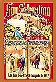 Spanisches Festival-Poster von San Sebastian, zeigt