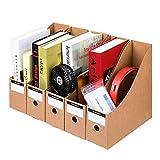 Nfudishpu File Display Rack 5 Unids/Set Revista Archivo Organizador de Documentos de Escritorio Estantería Suministros de Oficina Soportes de Archivo Archivo Titular Revista (Color: Marrón, Tamaño: