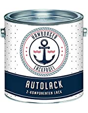 Hamburger Lack-Profi 2K autolak mat staalblauw RAL 5011 blauw in set deklak - zeer dekkend - roestwerend - kras- en slagvast (1 L)