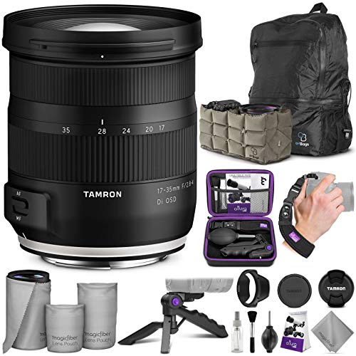 Tamron 17-35mm f/2.8-4 DI OSD Lens for Nikon F with Altura Photo Essential Accessory & Travel Bundle