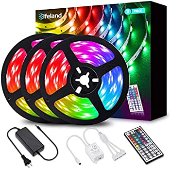 Elfeland 39.3ft RGB Color Changing LED Rope Strip Lights with Remote