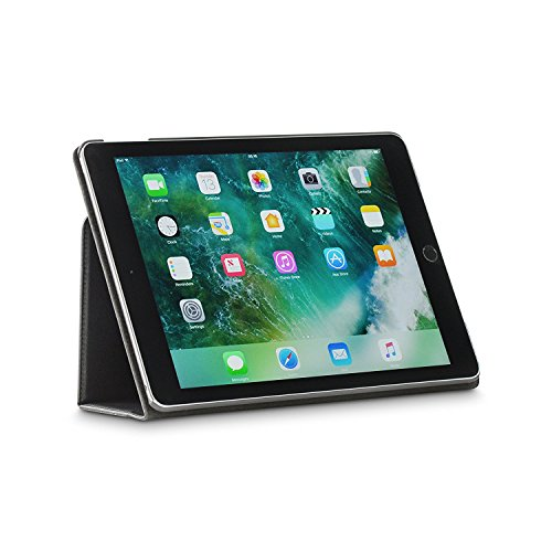 archaz iPad Air 2 Leather case - Premium Leather Smart Cover for iPad Air 2 with Auto Sleep/Wake Function - Multi Angle Viewing Stand (Black)