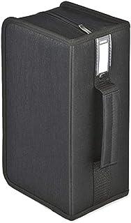 Lwieui Caja de Almacenamiento de CD CD de la Caja de almacenaje de CD portátil de CD Mano Llevar Box 160 Capacidad Estante...