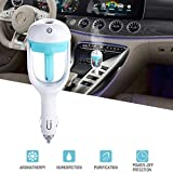 Car Humidifier Air Refresher Purifier Aromatherapy Essential Oil Diffuser Blue
