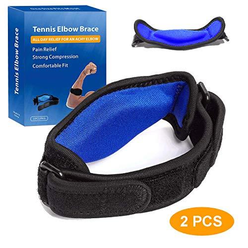 ellenbogen bandagen tennisarm mit Kompressionskissen für Unterstützung und Schmerzlinderung, Tennisarm Golferarm Manschette Bandage Unisex einstellbar für Damen und Herren