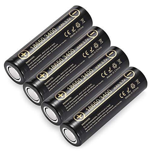 4 Pezzi HK Lii-34A 3.7V 18650 3400mAh batterie NCR18650B 34B Batteria Ricaricabile per la Torcia elettrica/torce/Lampada