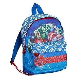 51f27gFviCL. SS300  - Marvel Avengers - Mochila para niños, diseño de personajes, azul (Azul) - LBAMZMPN1218