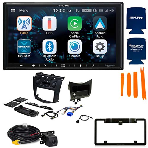 Alpine ILX-W650 7-Inch Receiver and PAC RPK4-HD1101 2003-07 Honda Accord Kit with Back up Camera and License Plate Frame