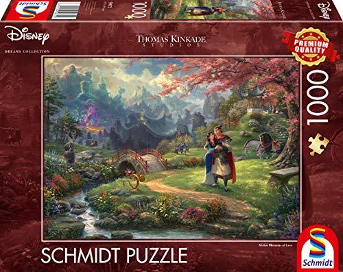 Schmidt Spiele 59672 Thomas Kinkade, Disney, Mulan, 1.000 Teile Puzzle