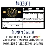 V.I.P EINLADUNG Kartenset XL (24 Stück) Premium Einladungskarten zum Ausfüllen - edel in Schwarz & Gold ideal für VIP Party, Silvester, Einweihung, Kinder-Geburtstag für Jungen, Mädchen & Erwachsene - 4
