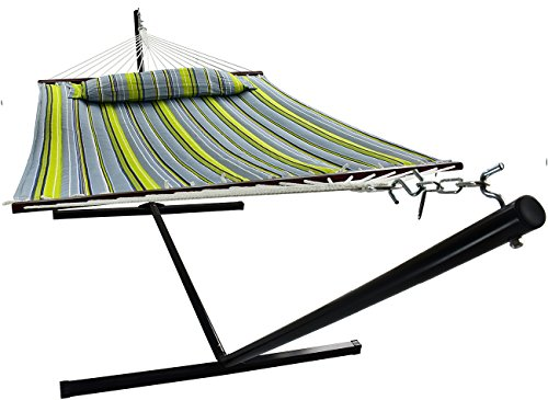 Sorbus Hammock with Stand & Spreader Bars and Detachable Pillow