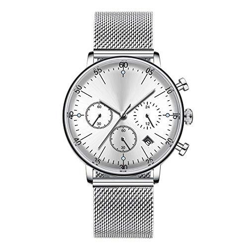 C-ET Hohe Qualität,wasserdicht, Mechanische Uhr, männlich automatische mechanische Edelstahl Armbanduhr Herren wasserdichte automatische mechanische Uhr Business Kleid Kalender Armbanduhr,Outdo
