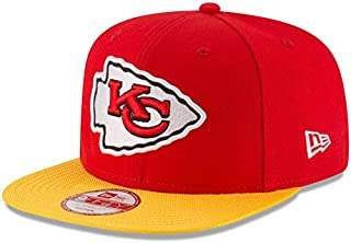 New Era NFL 2016 Official Sideline On Field 9FIFTY Snapback Adjustable Hat Authentic Football Cap Team Color Adult Unisex Men & Women 100% Polyester (One Size Fits All, Kansas City Chiefs)