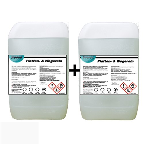 Preisvergleich Produktbild Star Clean Platten & Wegerein,  2 x 25L - Steinreiniger-Konzentrat für Terasse,  Plasterstein und Beton