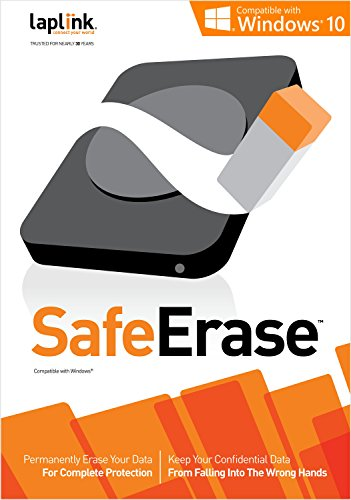 Laplink SafeErase 8| PC Software | Permanently Erases Data for Complete Protection | Customized Deletion | Complete Privacy Protection