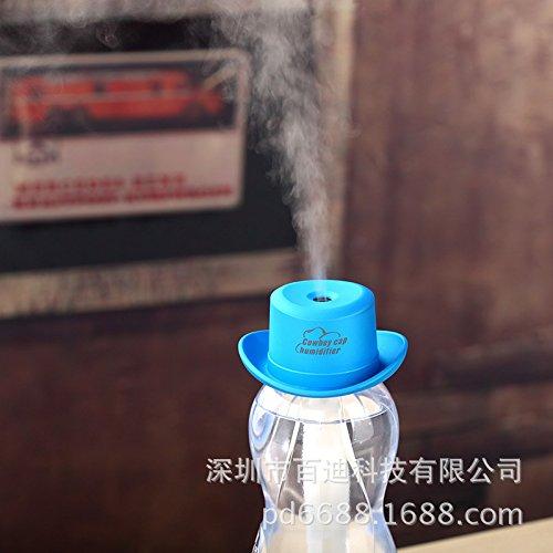 De luchtbevochtiger, cowboy, hoed, luchtbevochtiger, mini-vernevelaar, home creatieve spoellucht, blauw