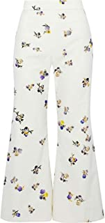 (アクネ ストゥディオズ) ACNE STUDIOS レディース ボトムス?パンツ クロップド floral-print cotton-corduroy flared pants [並行輸入品]