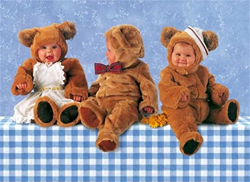 Schmidt - 57955 - Anne Geddes, Teddybären-Trio, 1000 Teile Puzzle