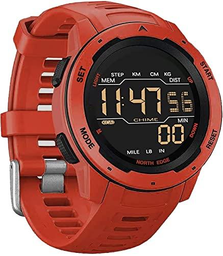 CNZZY Mars Smart Watch Reloj deportivo para hombre Cronómetro Reloj de cuenta regresiva Podómetro Alarma de tiempo dual 50M Reloj impermeable Reloj digital al aire libre (C)