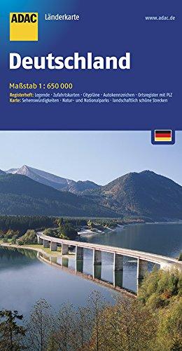 Preisvergleich Produktbild ADAC Länderkarte Deutschland 1:650.000 (ADAC LänderKarten)