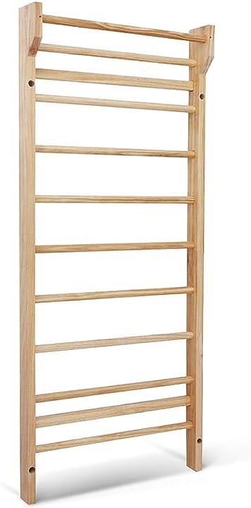 Scala svedese in legno a 10 gradini per casa 195 x 80 x 14 cm, carico fino a 100 kg  costway HW52648IT