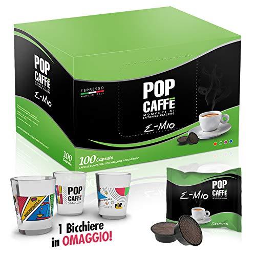 100 CAPSULE POP CAFFE\' E-MIO 2 CREMOSO COMPATIBILI LAVAZZA A MODO MIO