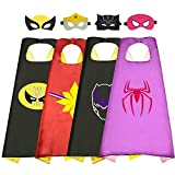 An toys for 3-12 Year Old Girls Fun Superhero Capes with Masks for Kids  Age 5-8 Halloween Stocking Stuffer Christmas Cosplay Costume Toys for 3-12 Year Old Girls Teens (4 Set)