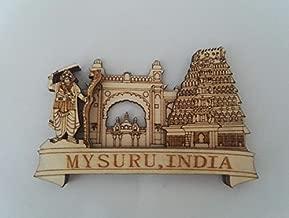 White Artisans Mysuru Collage Heritage Wood Carved Magnet