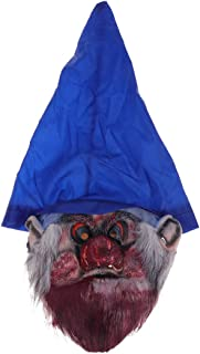 Amosfun Halloween Horror Mask Creepy Scary Halloween Costume Mask Elf Cosplay Headgear for Carnival Festival