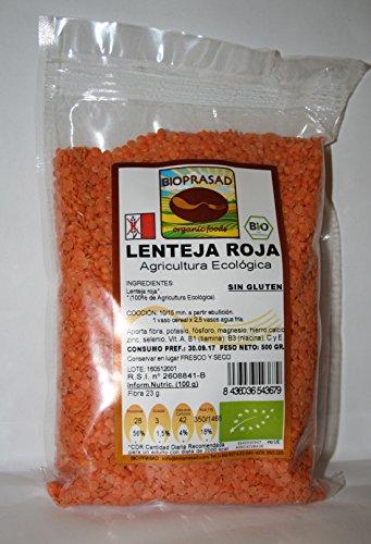 Lenteja Roja (Agricultura Ecológica) Sin Gluten 500 Grs