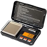 JOYIT Small Digital Weighing Scale - 200g by 0.01g Gram Scale for Packages, Electronic Smart Scale with 50g Calibration Weight, Use for Food/Jewelry/Gold/Gemstones/Coins (Battery Included)