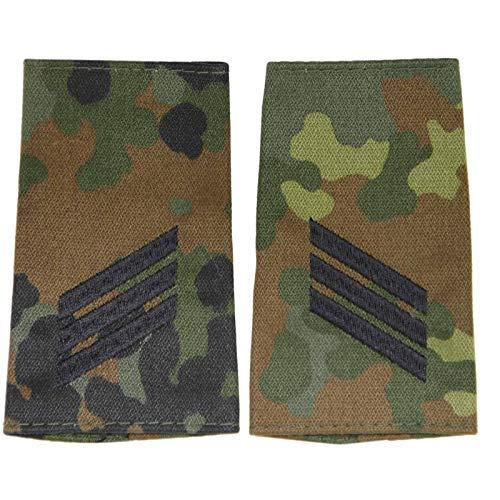 baum-m gmbh Rangschlaufen für Schulterklappen für die Deutsche Bundeswehr flecktarn mit schwarzem oder goldenem Stick Hauptgefreiter